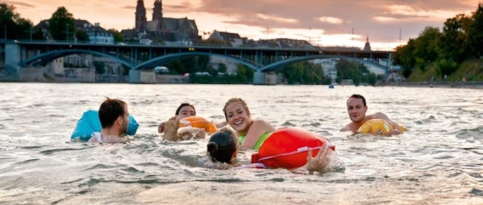 Swimming in the Rhine